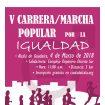 cartel V carrera por la Igualdad