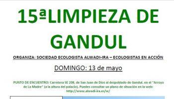 Cartel 15ª edición limpieza Gandul 13-mayo-18