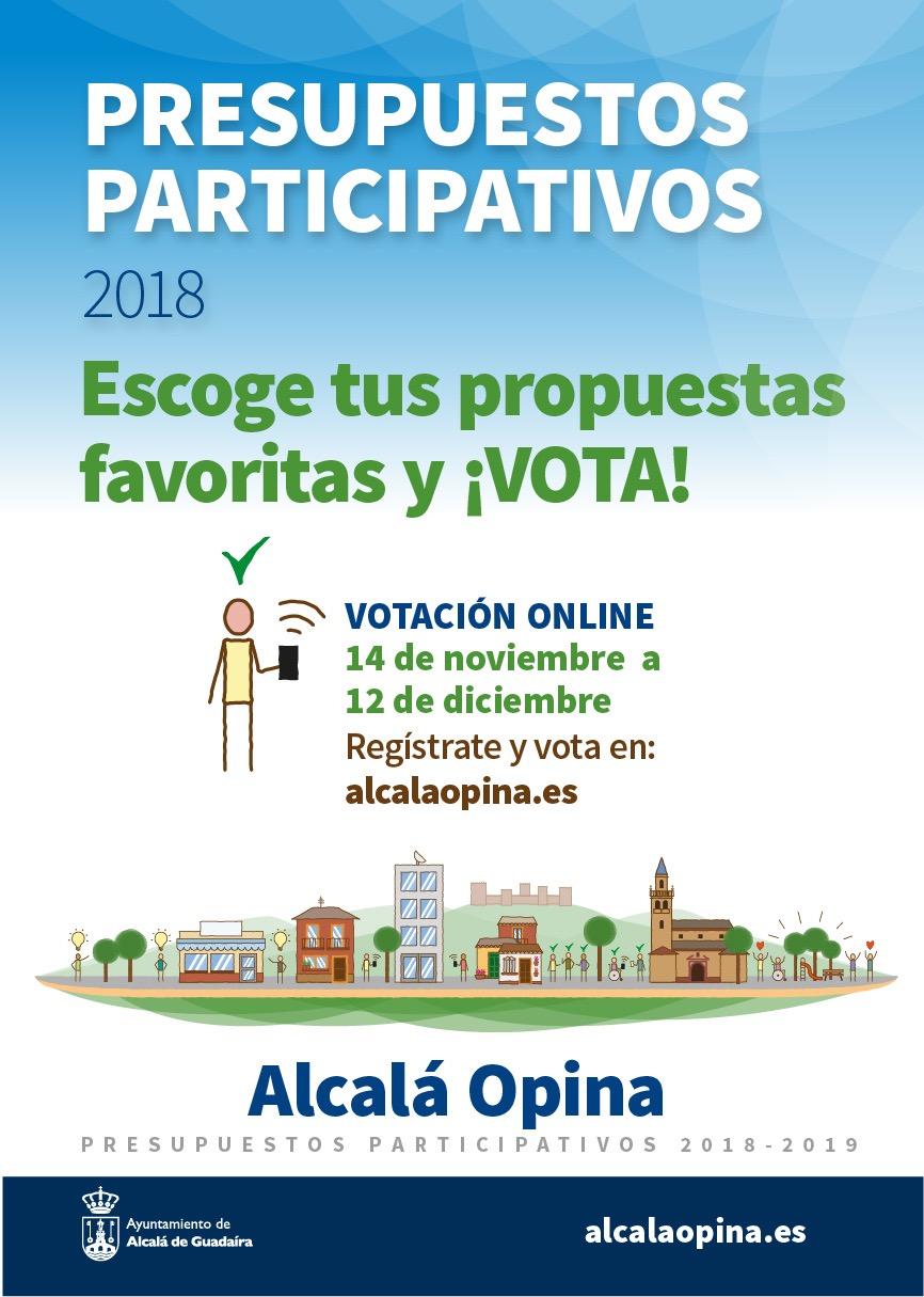 Cartel votaciones presupuestos participativos