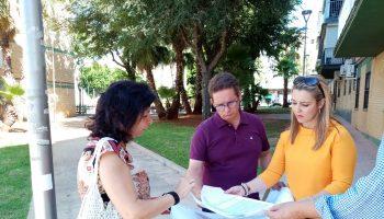 De izquierda a Derecha. Rosario Martorán, delegada de Medio Ambiente, José Manuel Rodríguez, delegado de Urbanismo y Ana Isabel Jiménez, alcaldesa
