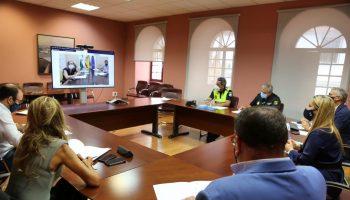 La renovación de este protocolo se ha realizado en una sesión extraordinaria de la Junta Local de Seguridad, a través de conferencia virtual, de la secretaria general de la Subdelegación del Gobierno, Isabel Mayo.