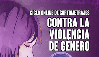 Cartel contra la violencia de genero en Alcala de Guadaira (Sevilla).