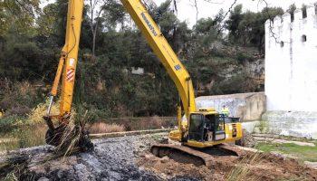 Sevilla.- Prosiguen las mejoras en el Monumento Natural de Alcalá con la restauración del entorno del Molino de la Aceña