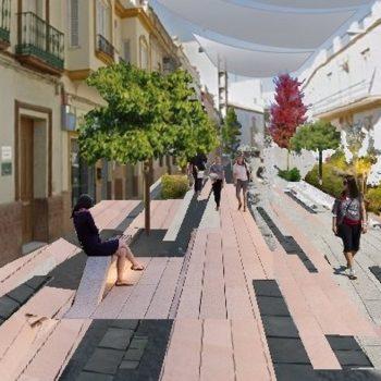 Recreación del proyecto de reforma de la calle La Mina, en Alcalá de Guadaíra.