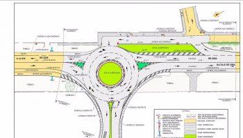 Sevilla.-Contigo.- La nueva rotonda de acceso a urbanización Pinares de Oromana de Alcalá Guadaíra finalizará este año