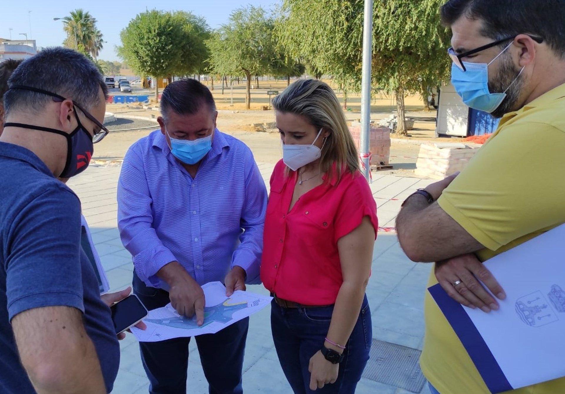 Sevilla.- La reurbanización de calles Barcelona y Tren de los Panaderos de Alcalá de Guadaíra entran en su última fase