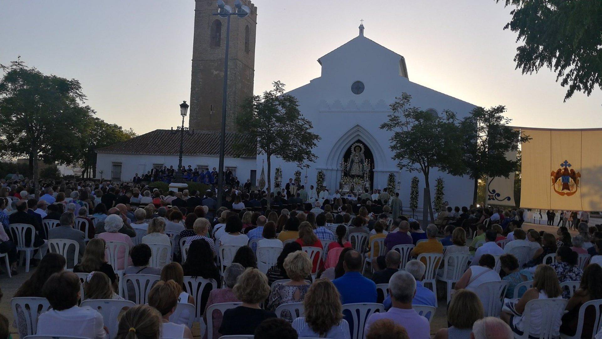 Sevilla.- La Virgen del Águila de Alcalá de Guadaíra presidirá su Función Principal desde el dintel del Santuario