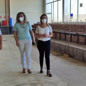 """Sevilla.-Avanzan """"a buen ritmo"""" las obras del pabellón cubierto del Distrito Sur de Alcalá de Guadaíra"""