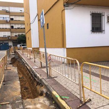 Imagen de la obra que acomete Endesa en la zona norte de Alcala de Guadaíra (Sevilla).