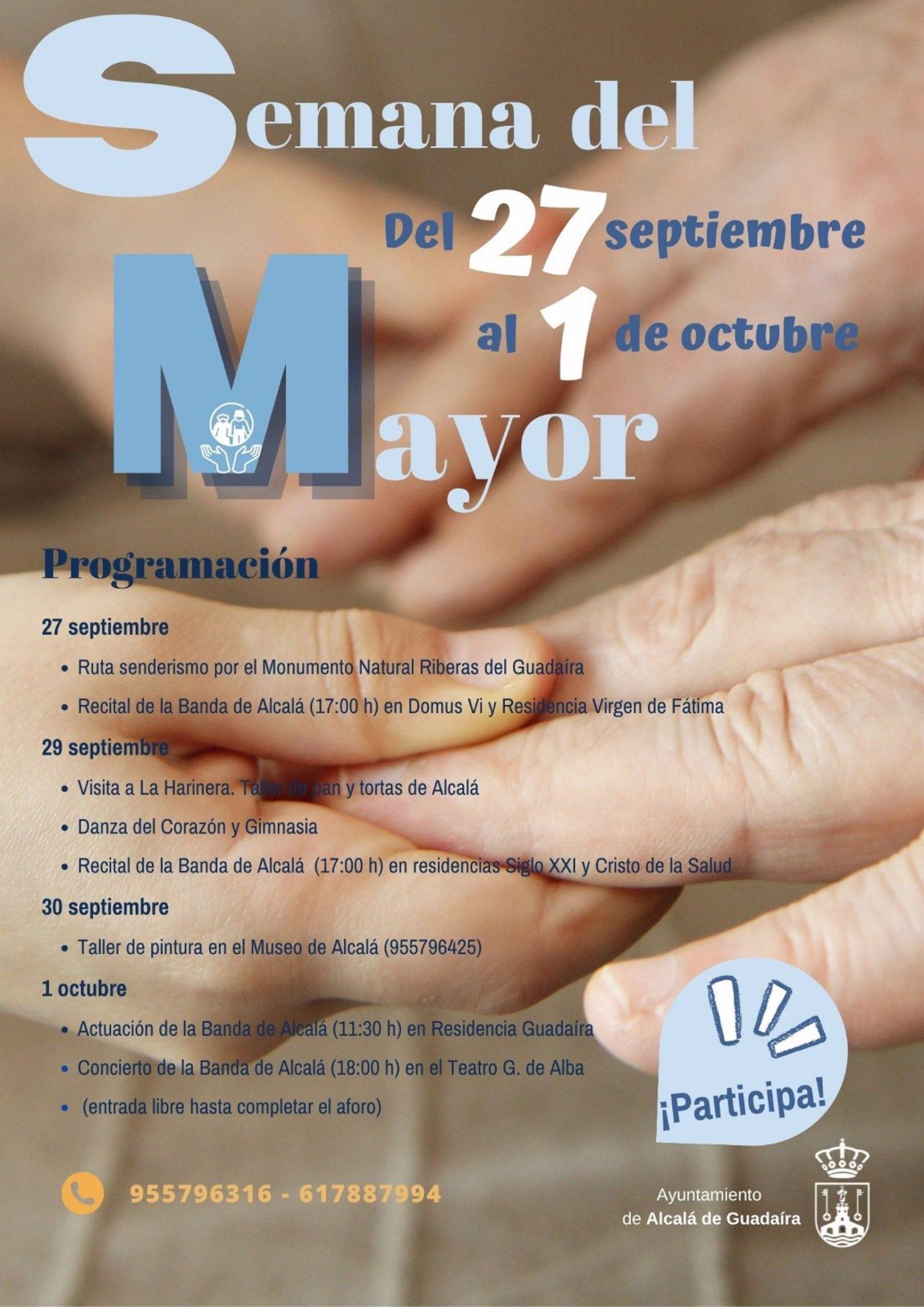 Sevilla.- Alcalá celebra el Día del Mayor con música en directo, talleres, senderismo o una visita a La Harinera